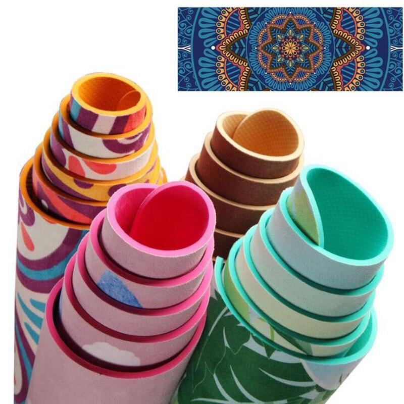 5 Colors TPE Non Slip Tapis Yoga Mats For Fitness