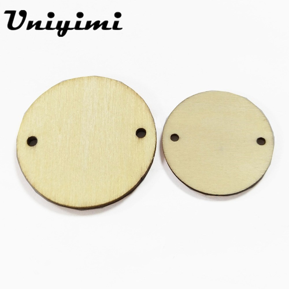 Us 104 20 Off150pcslot Unfinished Wood Discs Circle Round Wooden Pieces With 2 Holes Craft Supplies For Jewelry Accessories Wholesale In Jewelry