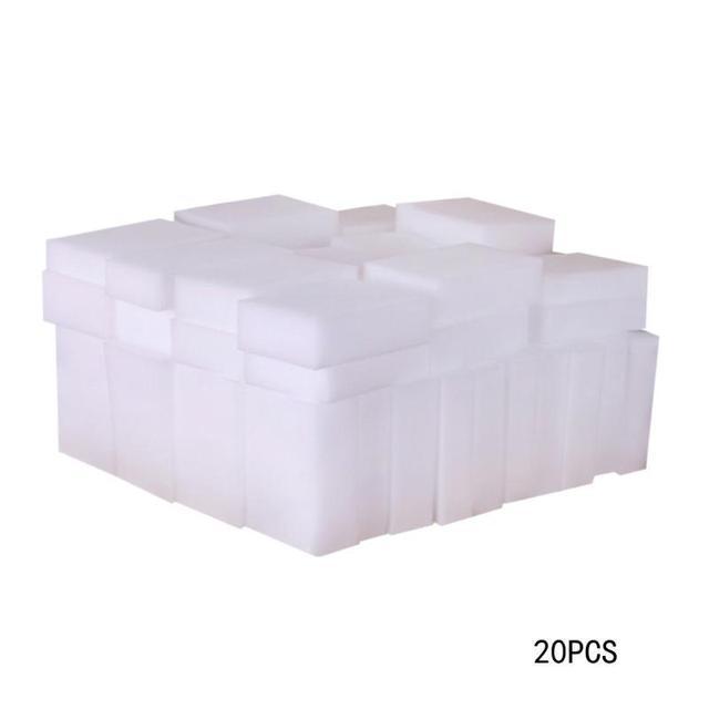 50/20 sztuk 100*60*20mm biały gąbka z melaminy domu gąbka czyszcząca gumka do kuchni biuro łazienka do czyszczenia naczyń czyste akcesoria 20