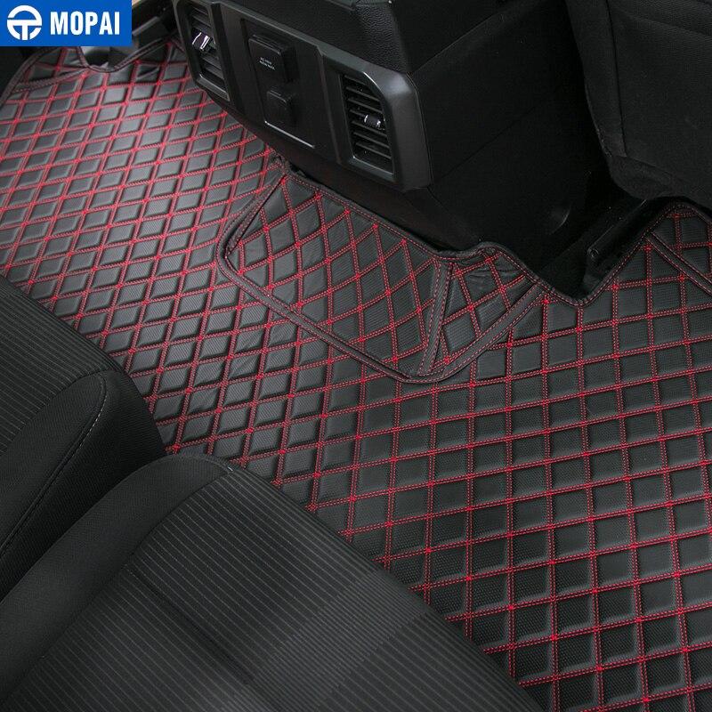Image 4 - MOPAI аксессуары для салона автомобиля кожаные коврики для ног комплект украшения крышки для Ford F150 2015 Up Автомобильный Стайлинг-in Лепнина для интерьера from Автомобили и мотоциклы