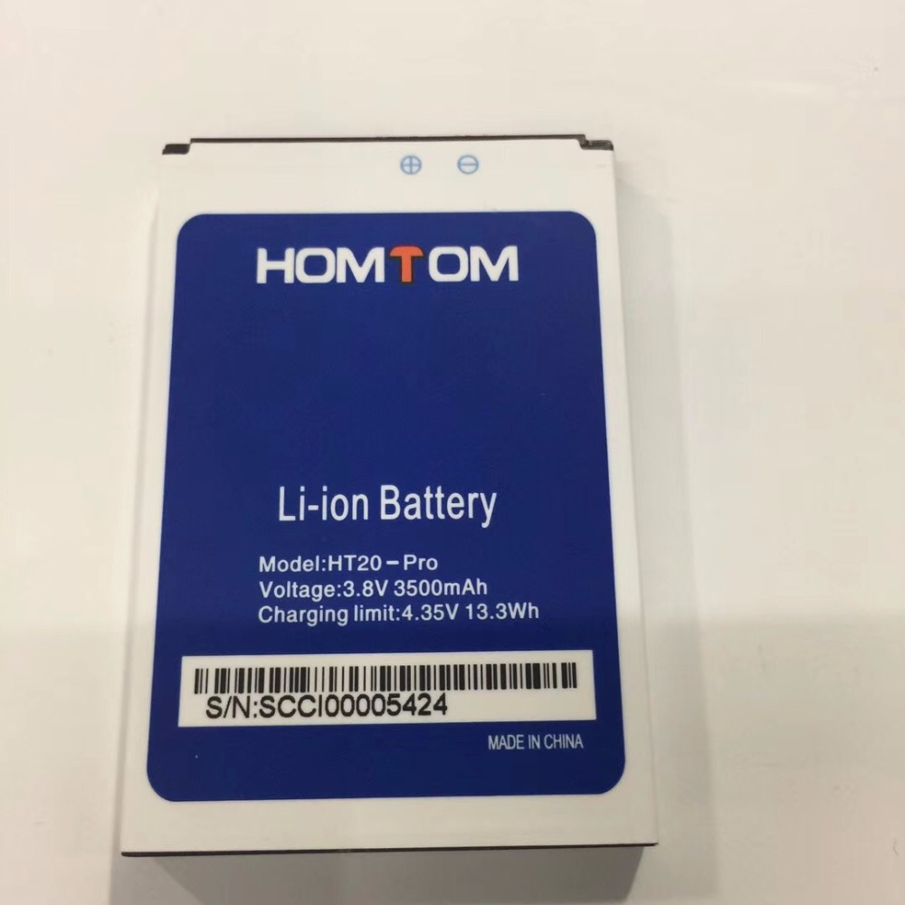 100% Original 3500mAh HOMTOM HT20 Battery Large Capacity Backup Batteries Replacement For HOMTOM HT20 Pro Smart Phone(China)