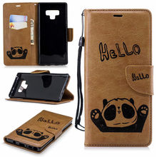 Phone Case for Huawei Mate20 lite P20 Leather Flip Back Cover For Huawei P20 lite P20 pro P10 lite Y5 Y9 2018 Panda Wallet Case(China)