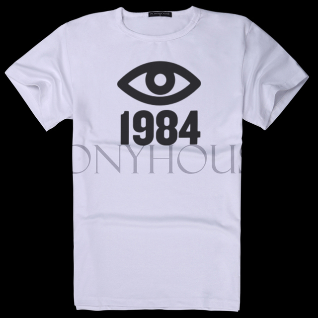 2015 D VXX OYE GEORGE ORWELL BIG BROTHER 1984 T Shirts Men With Short Sleeves
