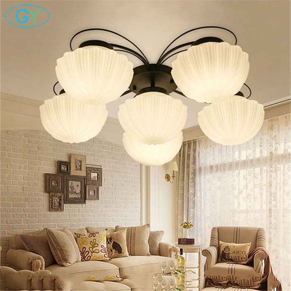 New Decoration ceiling lamps bedroom modern ceiling lamp 3/6 lampshade lamps living room ceiling decoration home lighting creative star moon lampshade ceiling light 85 265v 24w led child baby room ceiling lamps foyer bedroom decoration lights