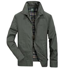 Männer jacke hohe qualität marke 100% baumwolle frühling herbst jacke männer mode-business casual jacke mäntel marke Kleidung