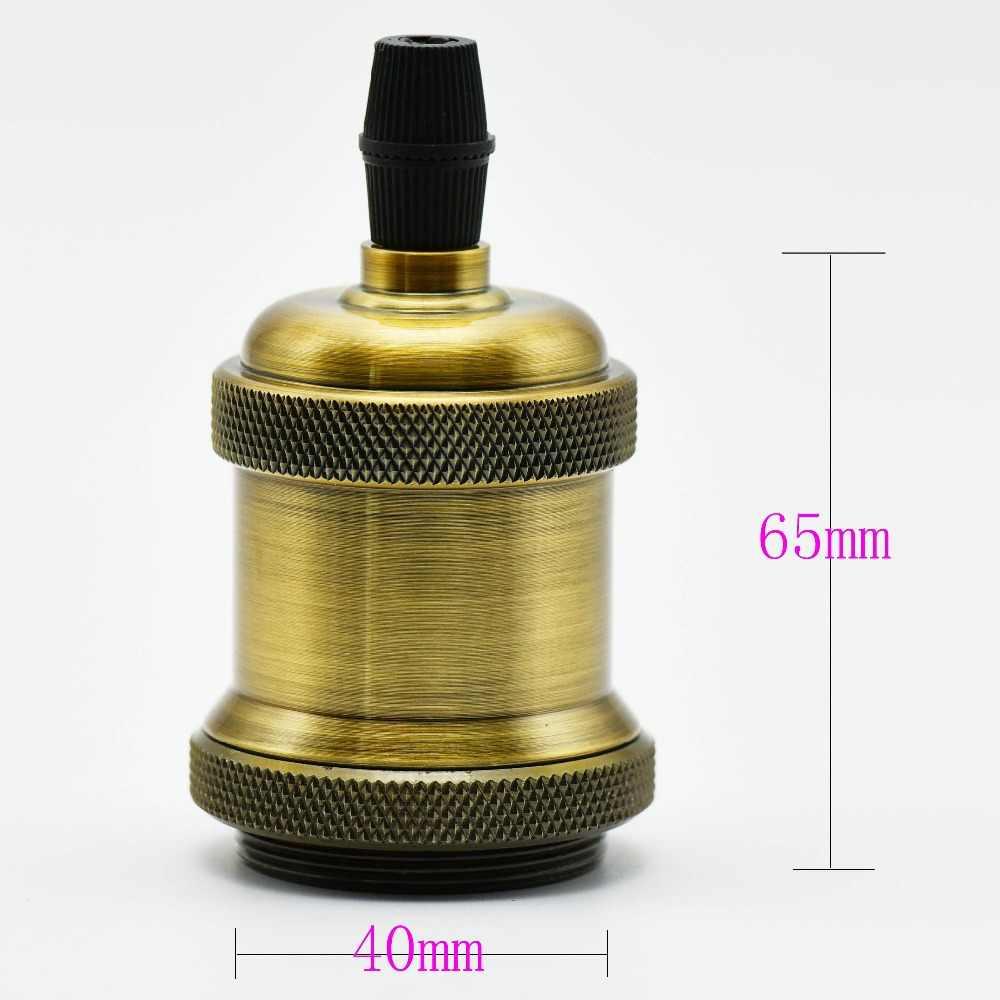 E27 Socket Antique Lamp Holder Ceiling Chandelier Eidson Bulb Socket Vintage Pendant Light Base with 120mm Wire Fitting 220V