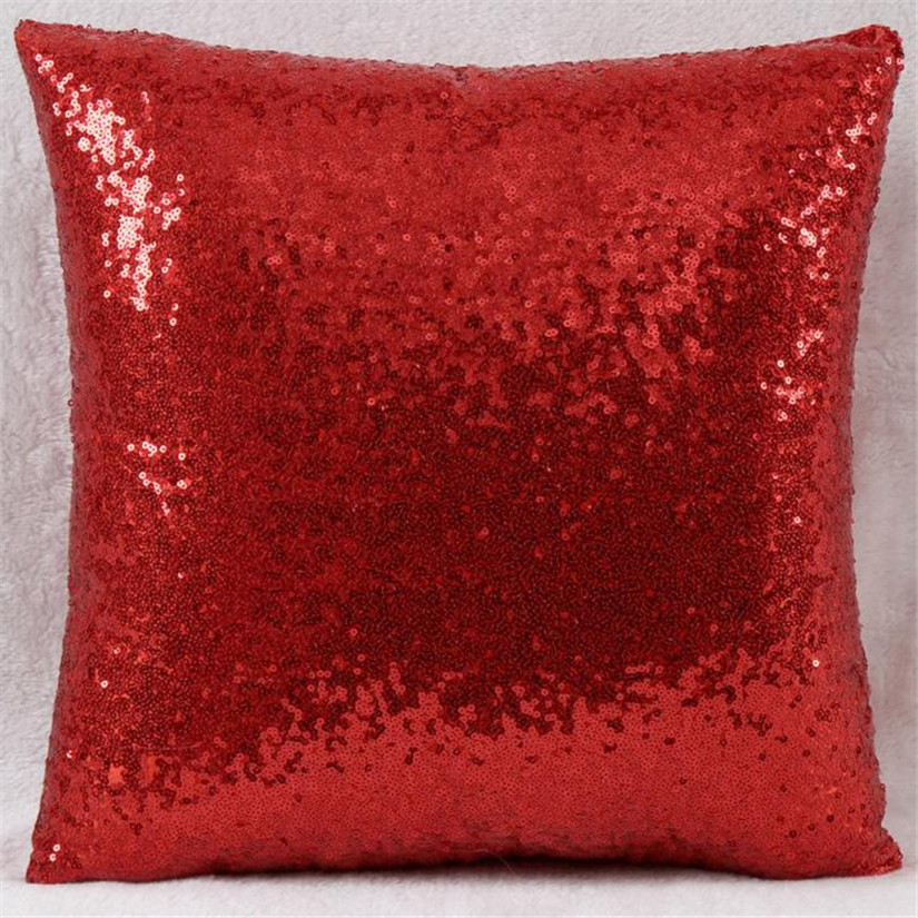 ?New Qualified Cushion Solid Color ? Glitter Glitter Sequins Throw ? Cafe Cafe Home Decor ...