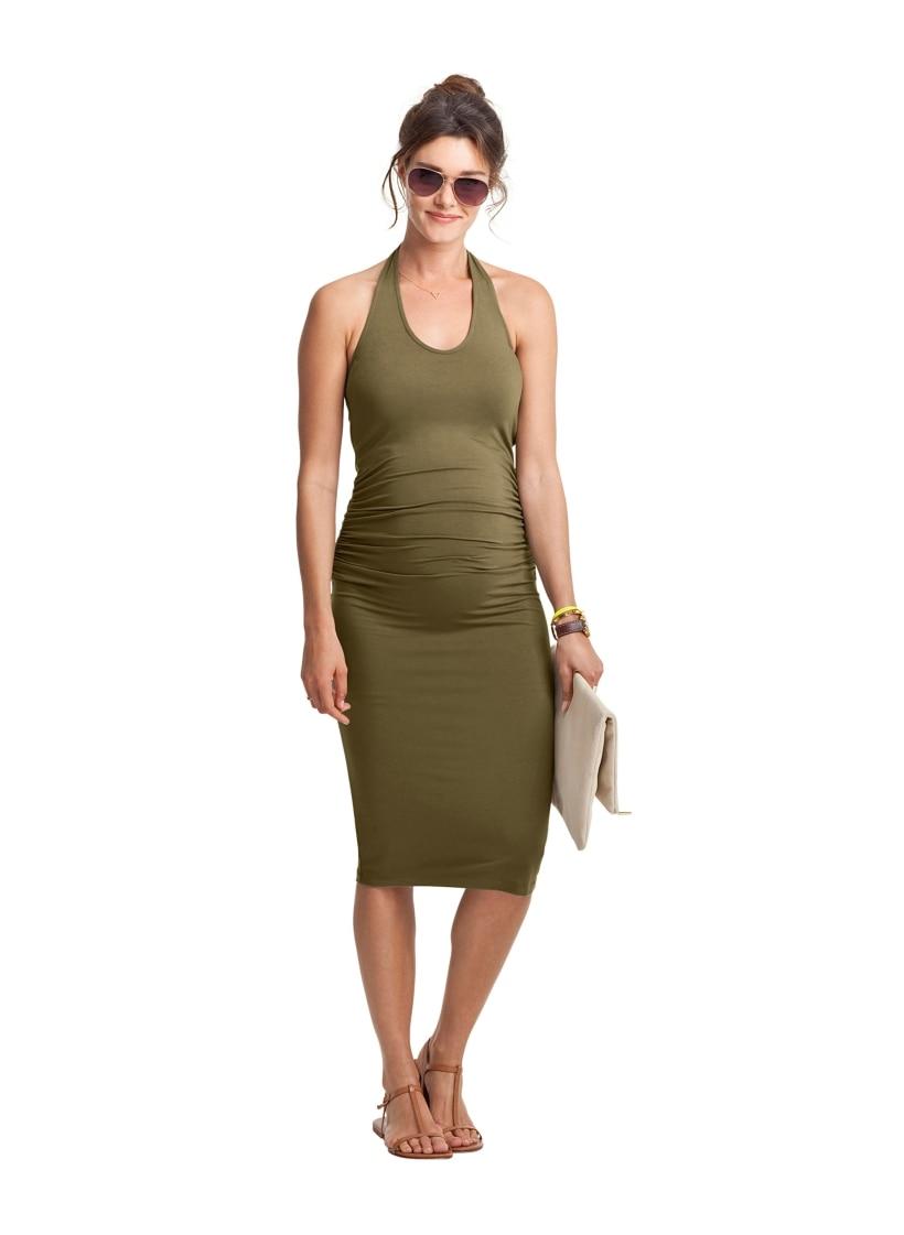 Stretchy summer maternity dresses promotion shop for promotional belva summer 2017 pregnancy dresses sleeveless midi tank dress ultra stretchy bamboo fiber base backless strap dress dr305 ombrellifo Images