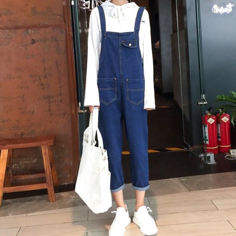 Les 1 Sexy Femmes Femme 2018 Salopette Streetwear Long Barboteuses Jeans Pour D'hiver Dd1439 Femelle Denim XY6xqY