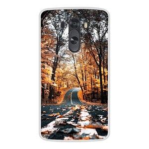 Image 4 - מקרה טלפון עבור LG G3 רך סיליקון TPU חמוד חתול פרח צבוע חזרה כיסוי עבור LG G3 D850 D851 D855 מקרה
