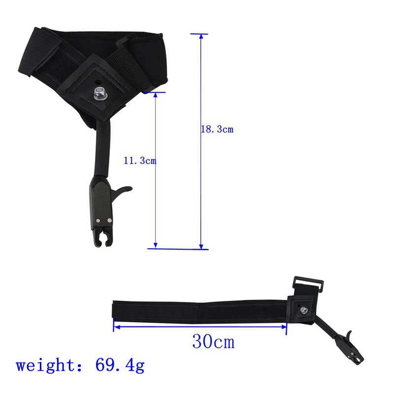 Image 3 - 1pc Black Caliper Release Hunting Shooting Bow Arrow Accessories Wrist Release Strap Used For Compound Bow-in Bow & Arrow from Sports & Entertainment