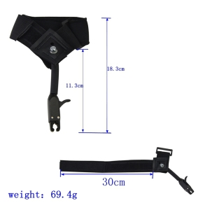 Image 3 - 1pc Black Caliper Release Hunting Shooting Bow Arrow Accessories Wrist Release Strap Used For Compound Bow