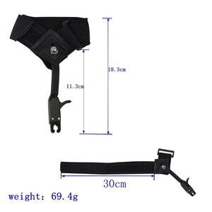 Image 3 - 1pc noir étrier libération chasse tir arc flèche accessoires poignet libération sangle utilisé pour arc composé