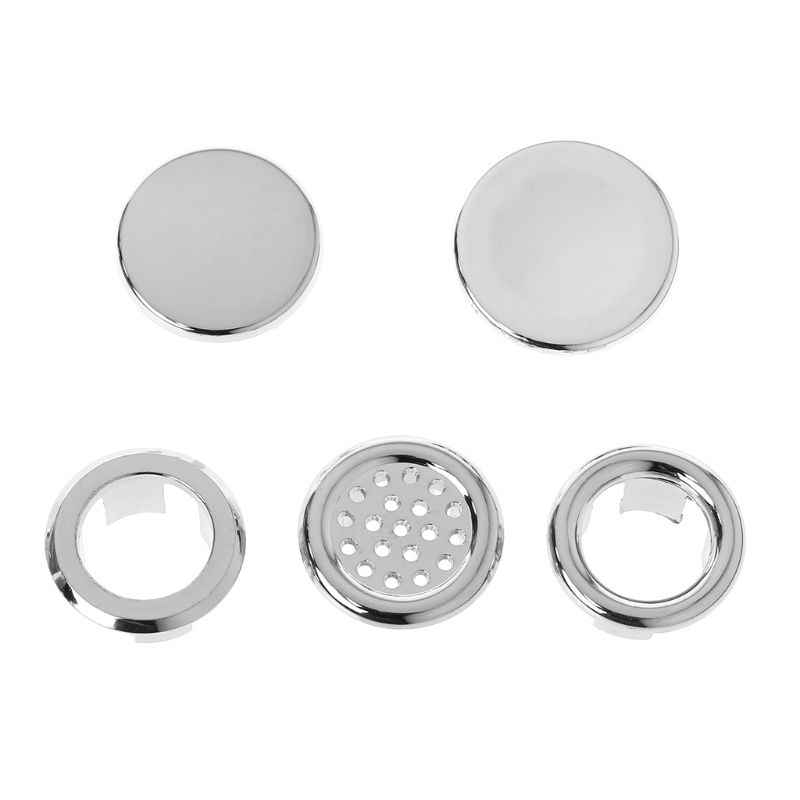 Bathroom Basin Sink Overflow Ring Six-foot Round Insert Chrome Hole Cover Cap