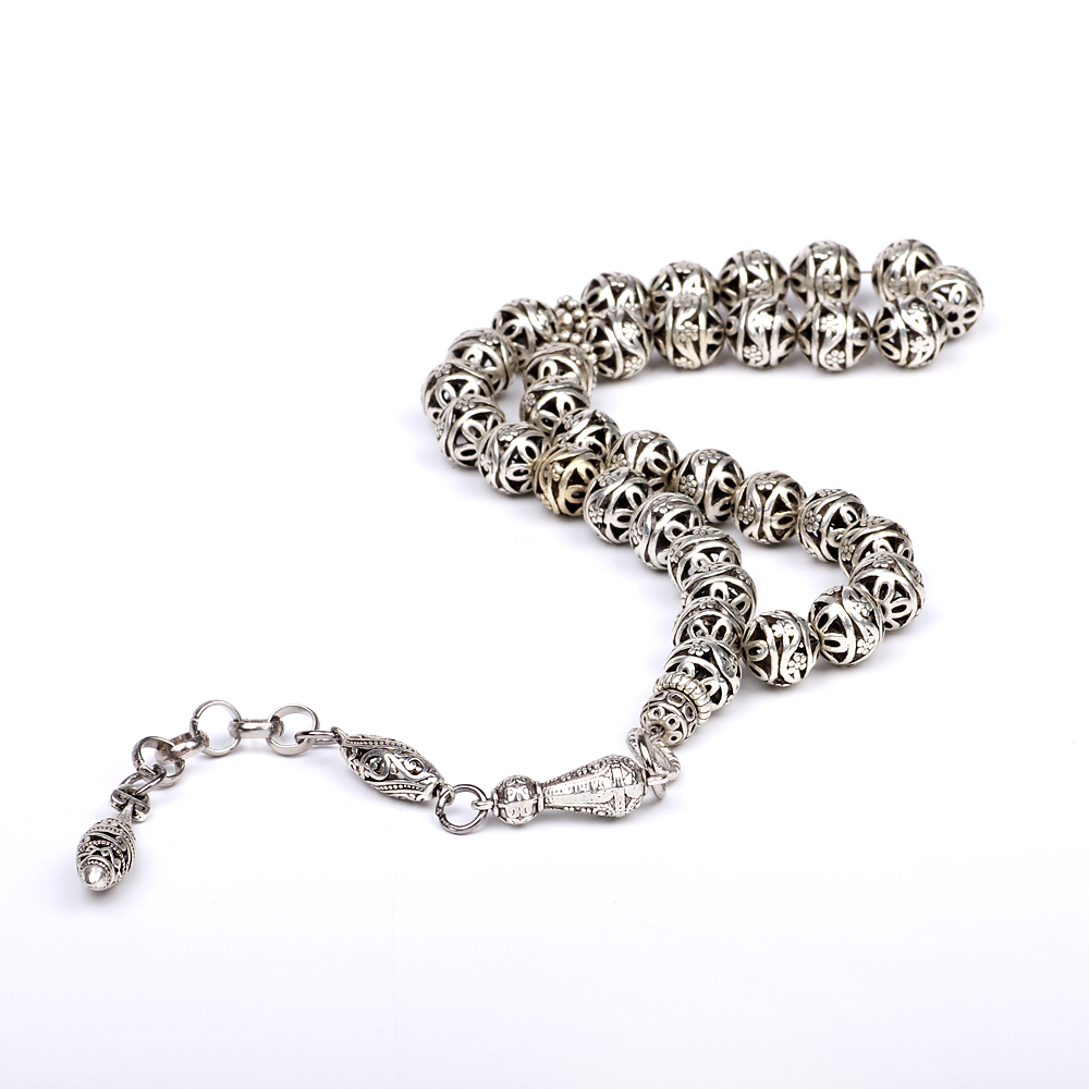Yeni varış DIY 1 parça lüks 11mm gümüş yuvarlak hollow - Kostüm mücevherat - Fotoğraf 1