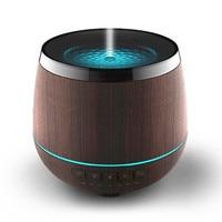 Wood Grain Mist Humidifier Bluetooth Speaker Ultrasonic Aroma Essential Oil Diffuser 200ML For Study Yoga Spa