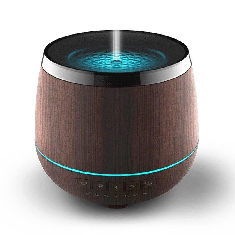 Wood Grain Mist Humidifier Bluetooth Speaker Ultrasonic