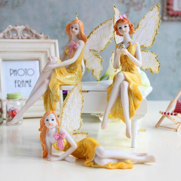 8pcs Set Dora A Dream Resin Anesefigurines Craft Home Desktop Cartoon Decor Fairy Garden Gnome