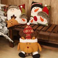 Feliz ano novo natal boneco de neve travesseiro almofada decorações de natal para casa quarto natal casal presente da criança navidad natal