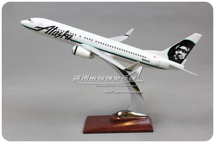 32cm Resin Boeing 737 Alaska Airlines Airplane Model Alaska B737-800 N524AS Airbus Aircraft Model United States ALK Aviation united boeing 777 200 hogan 1 200 united airlines n204ua aircraft model