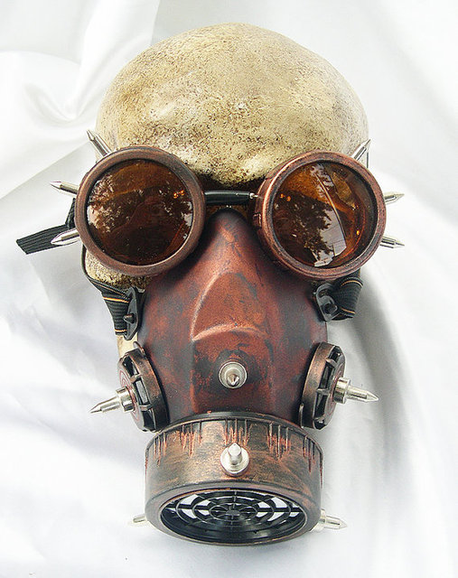 Steampunk Retro Glasses Gas Masks And Goggles Gothic Cos Stage Props Personality Anti fog Haze Mask