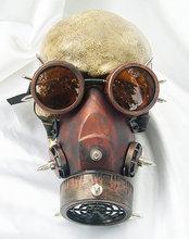 Steampunk okulary w stylu Retro maski gazowe i gogle Gothic Cos rekwizyty sceniczne osobowość maseczka antysmogowa tanie tanio Unisex Dla dorosłych Kostiumy Period Costumes