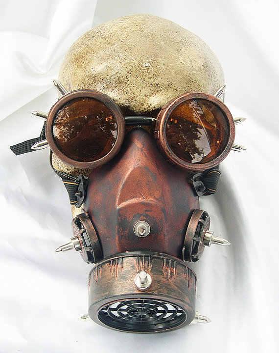 Стимпанк Ретро очки газовые маски и очки Готический cos Реквизит для сцены индивидуальная противотуманная маска от дыма