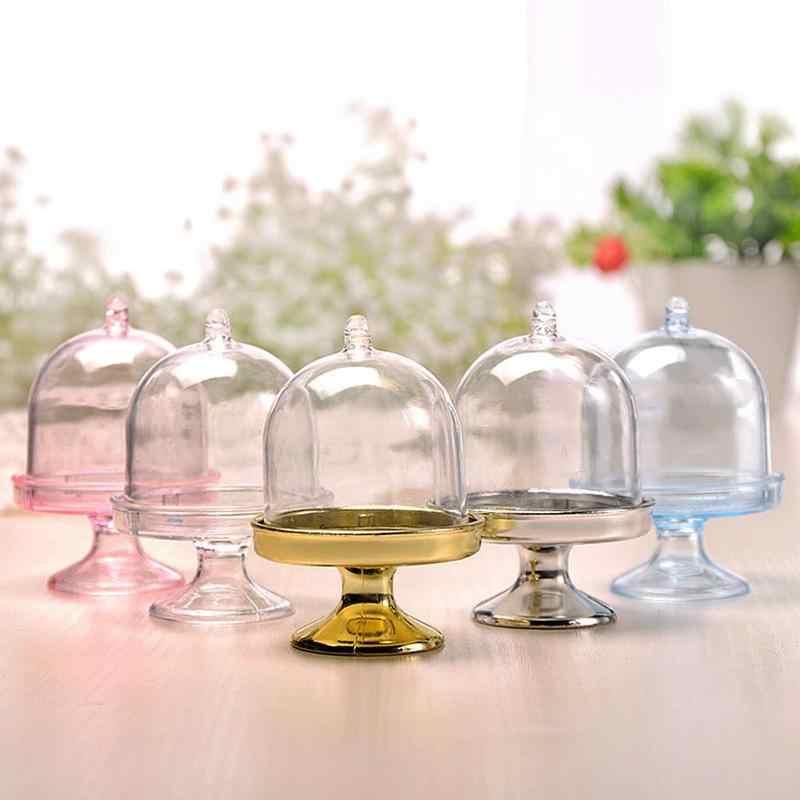 Sáng Tạo Trong Suốt Nhựa Hộp Kẹo Mini Tròn DIY Bảo Quản Hộp Kẹo Bánh Snack Hộp Quà Tặng Sinh Nhật Trang Trí Hộp Cho Bé