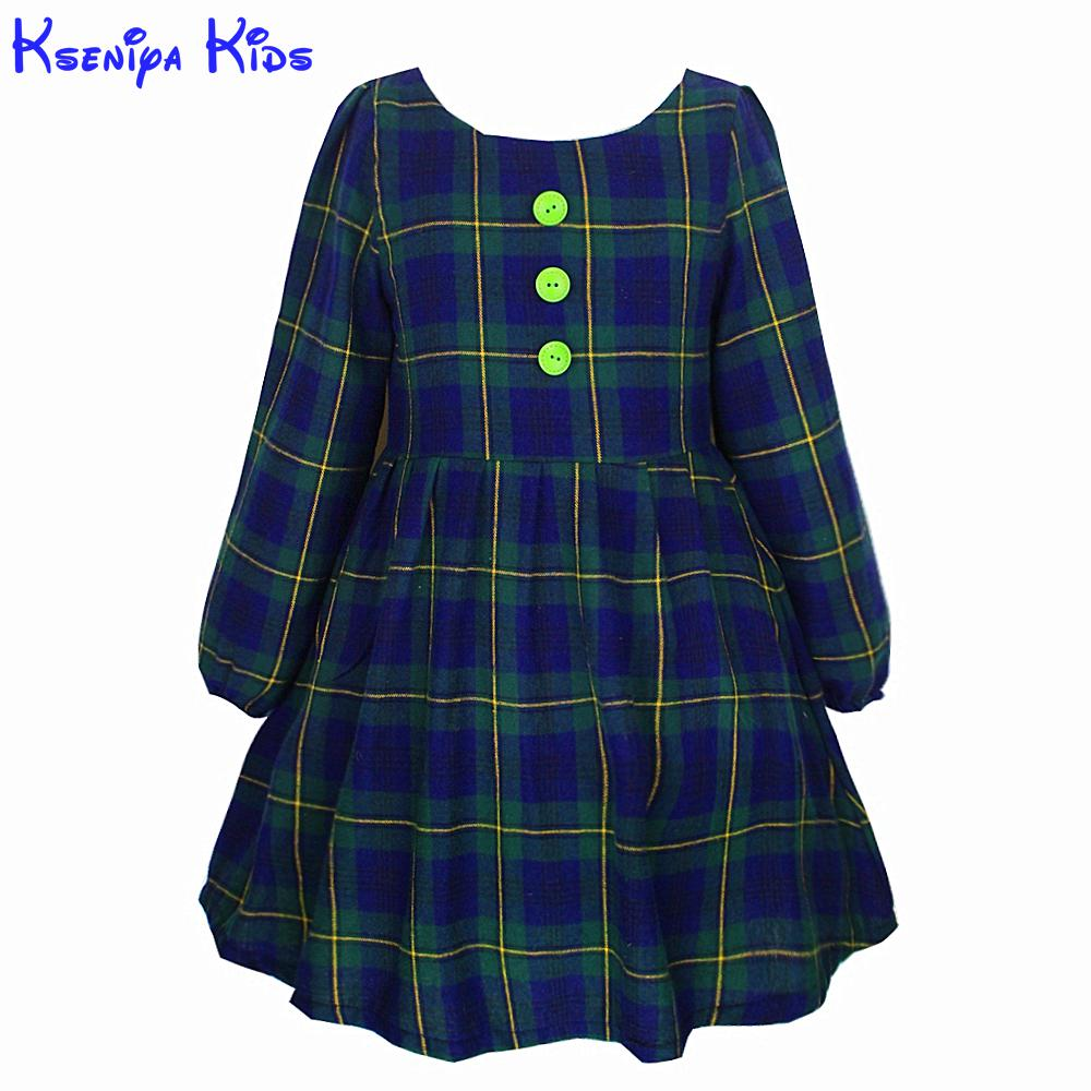 Hot Sale Cotton Lining Green Plaid Lantern Sleeve Ball Gown Kids Dresses For Girls Clothes 2-10 Years Baby Girl Dress Clothes for sale leica green tribrach
