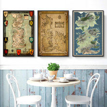 Game of Thrones Westeros Map Art Large Poster Wall Art Picture Posters and Prints Canvas Painting for Room Home Decor(China)
