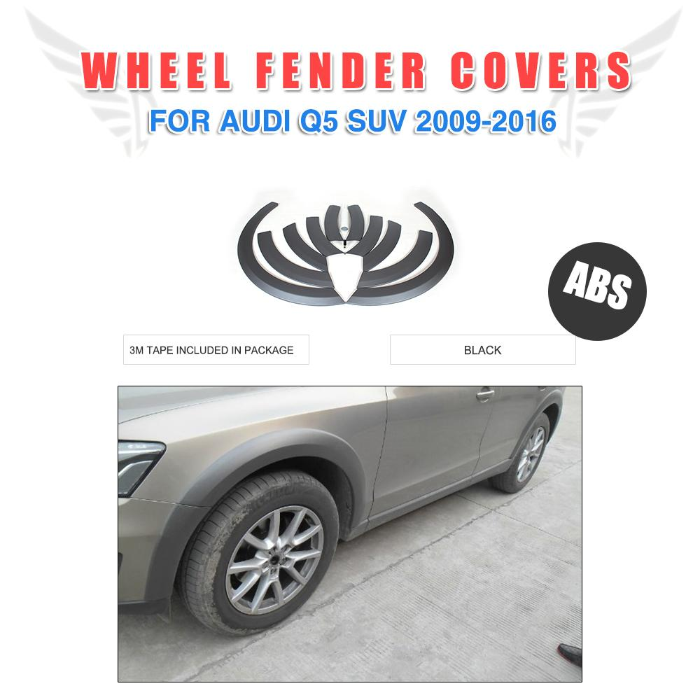 ABS Fender Flares Wheel Arch Eyebrows Wide Strip Covers For Audi Q5 Non-Sline 2009-2016 Mud Flaps Guard Trims Car Styling