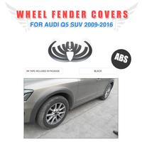 ABS Fender Flares Wheel Arch Eyebrows Wide Strip Covers For Audi Q5 Non Sline 2009 2016 Mud Flaps Guard Trims Car Styling