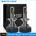 LED Hi/Lo Bulb H4 100W 10000LM 1 Set 6000K Car LED Headlight Bulb Fog lamp with CSP Seoul WICOP LED Chip
