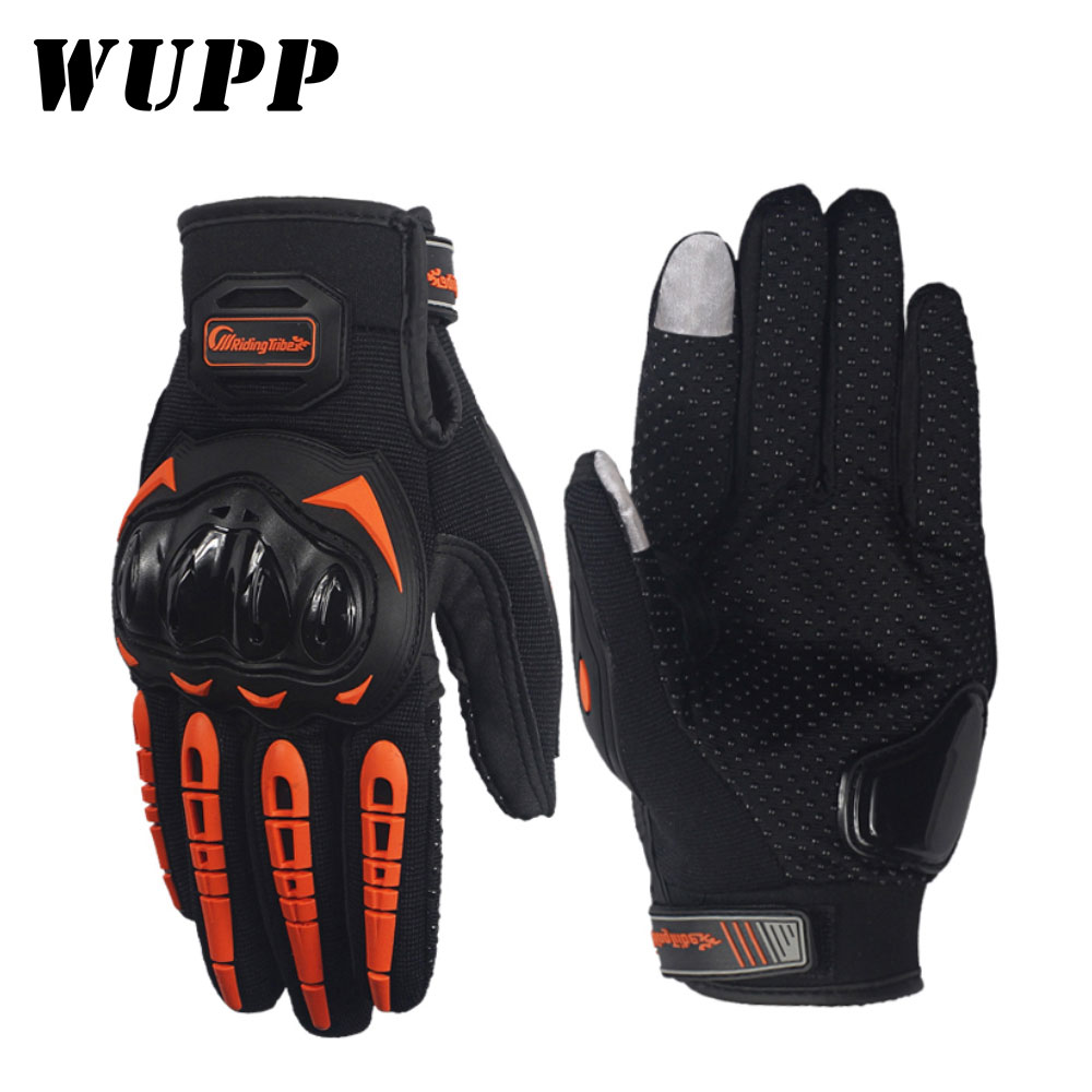 WUPP 1Pair Motorcycle Gloves Waterproof Touch Screen Moto Gloves Breathable Protective Gear Protect Hand(China)