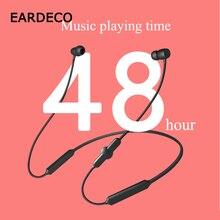 EARDECOกีฬาหูฟังไร้สายบลูทูธหนักหูฟังหูฟังสำหรับโทรศัพท์หูฟังไร้สายหูฟังหูฟังพร้อมไมโครโฟน