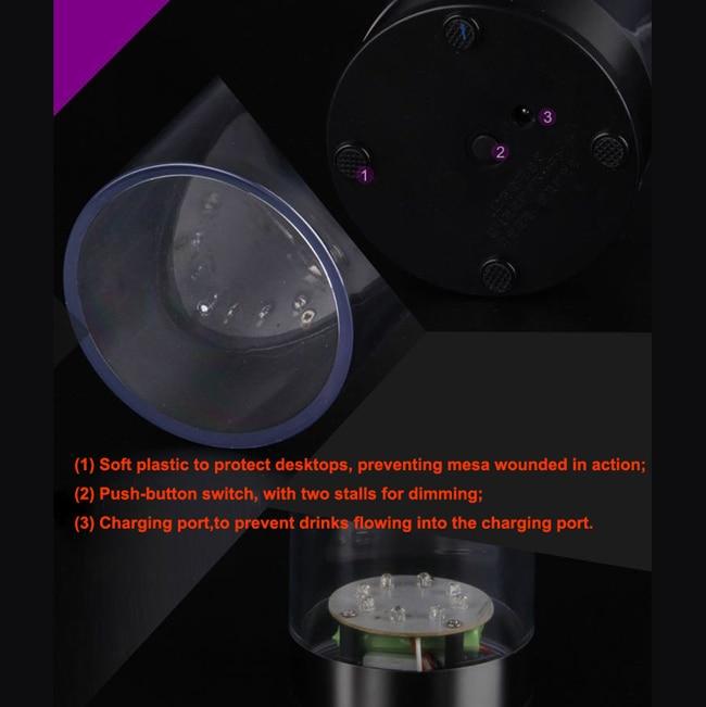 ABS materiāla mirgojoša gaismiņa Galda izvēlne Restorāna kartes - Nakts gaismas - Foto 6