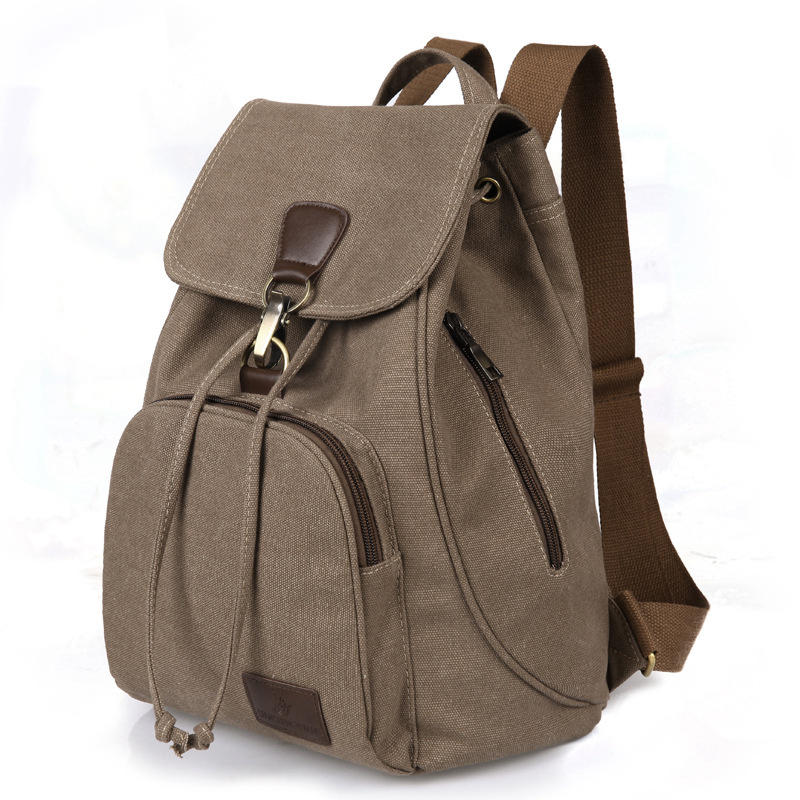 New Fashion Canvas Backpacks Large Capacity Casual Women Backpack Casual Retro Style School Backpack Good Quality