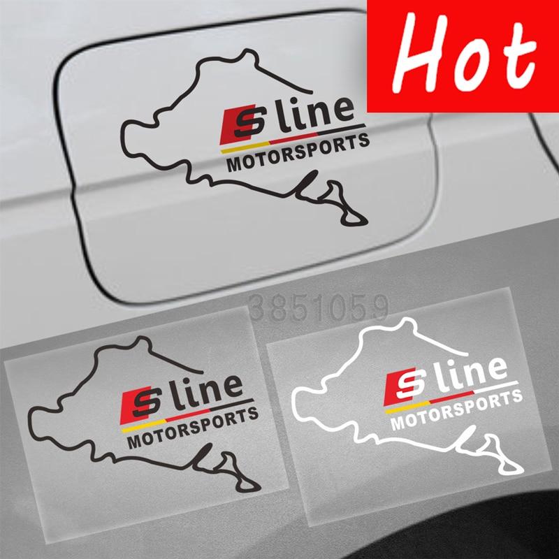 10x наклейки S линии Motorsports Виниловая Наклейка украшения эмблема Авто наклейки для Audi A3 A5 Q5 Q7 A4 TT q3 A8 C5 A6 B6 B8 B5 ...