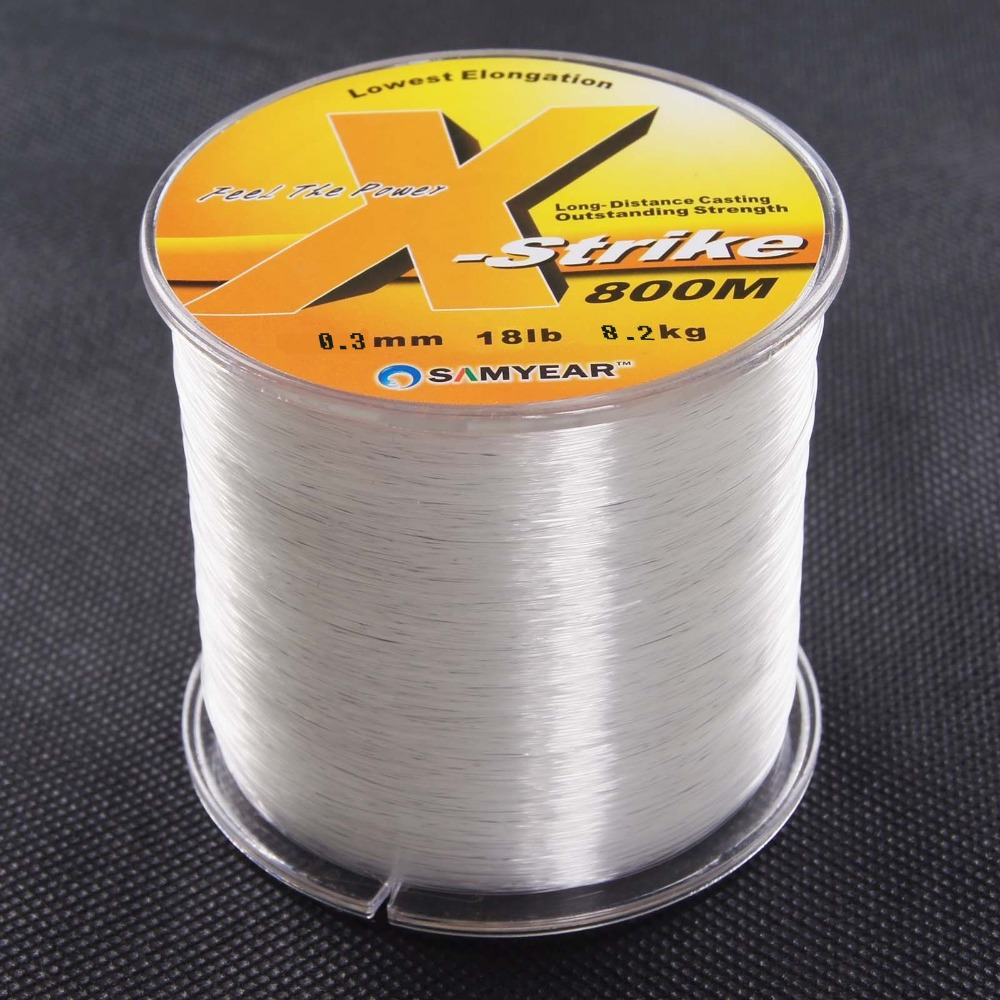Super strong 160 1860m 12 100lb nylon line rope clear for Nylon fishing line