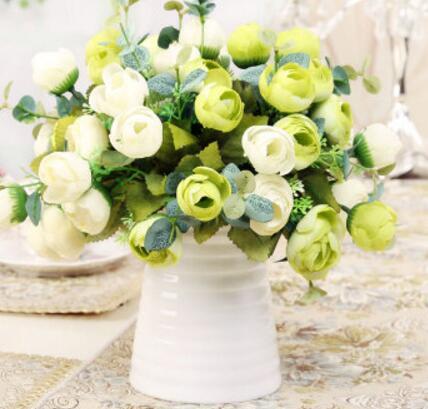 Acheter Fleur artificielle décoration fleur bref de mode fil vase fleur artificielle ensemble de vase stone fiable fournisseurs