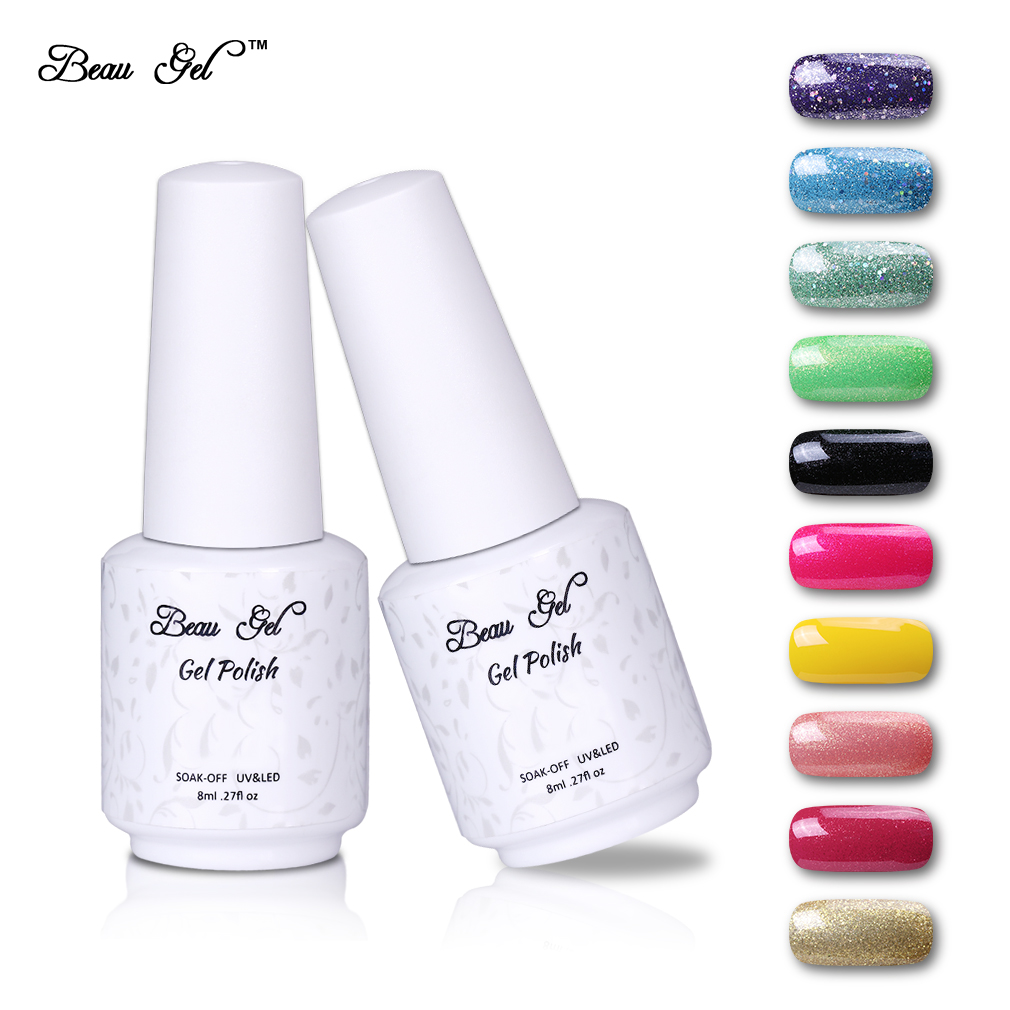 beau gel 2017 fashion neon gel polish semi permanent soak off uv colorful nail art design for. Black Bedroom Furniture Sets. Home Design Ideas
