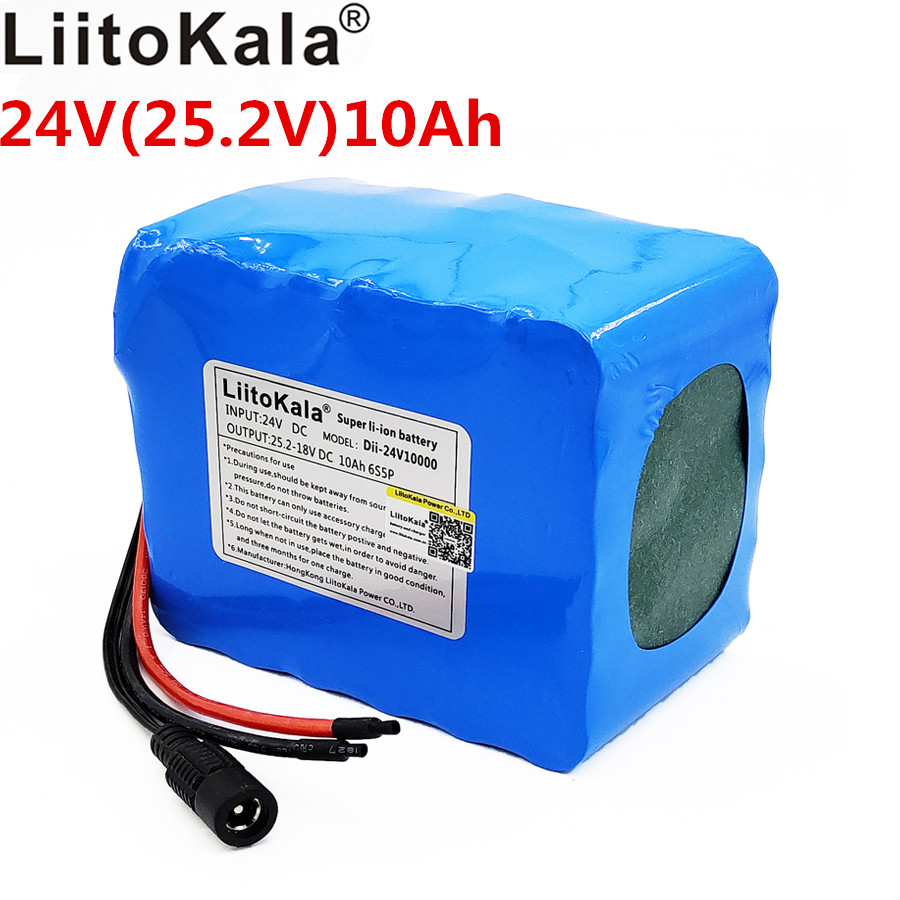 Liitokala 24V10ah 18650 Rechargeable Battery Scooter 10000 mAh Large Capacity BMS 15A 6S5P High Power Lithium Ion BatteryLiitokala 24V10ah 18650 Rechargeable Battery Scooter 10000 mAh Large Capacity BMS 15A 6S5P High Power Lithium Ion Battery