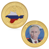 Russia President Vladimir Putin Crimean Map Gold Plated Commemorative Coin Token  AP16