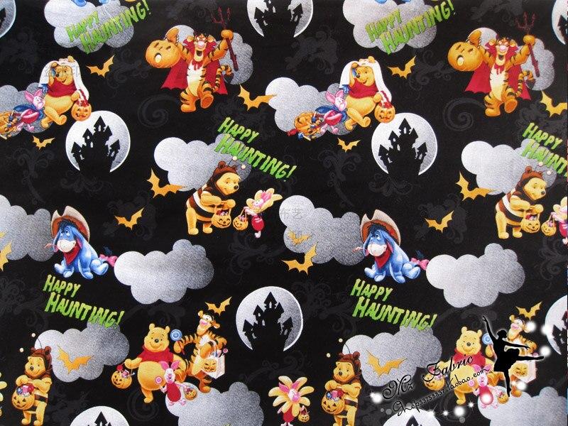 145x100cm winnie the pooh halloween cotton fabric for halloween decoration patchwork diy afck214china