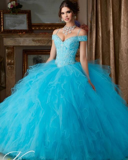 Vestidos De 15 Años Debutante Vestido Sweet 16 Vestidos de Baile Barato Light Blue Quinceanera Vestidos de Quinceanera Vestidos de Cinderela
