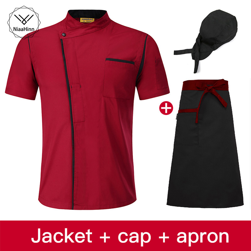 Chef Jacket Cook Clothes Long Sleeve Chef Workwear High Quality Restaurant Hotel Uniform Coffee Waiter Uniforms Casual Tops Chef
