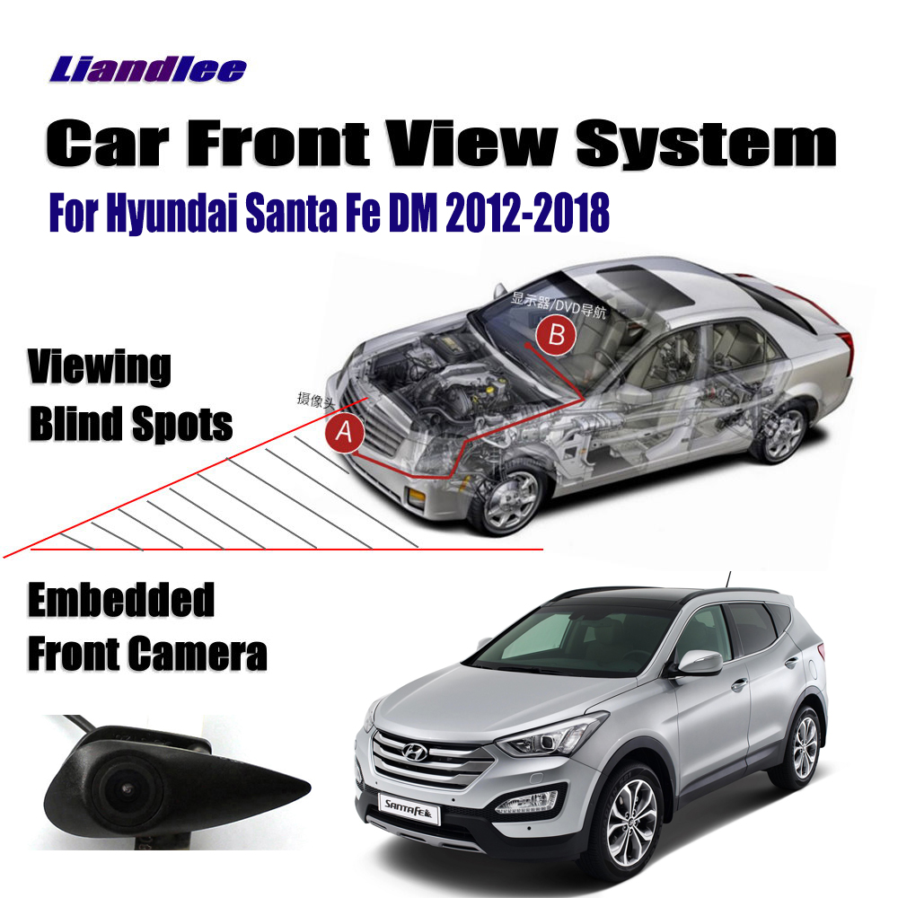 AUTO CAM For Hyundai Santa Fe DM 2012-2018 2015 Car Front View Logo Embedded ( Not Reverse Rear Parking Camera )