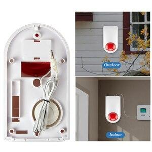 Image 3 - Corina Bedrade Sirene Outdoor Strobe Flash Siren Smart Home Alarm Voor Draadloze Alarmsysteem Beveiliging