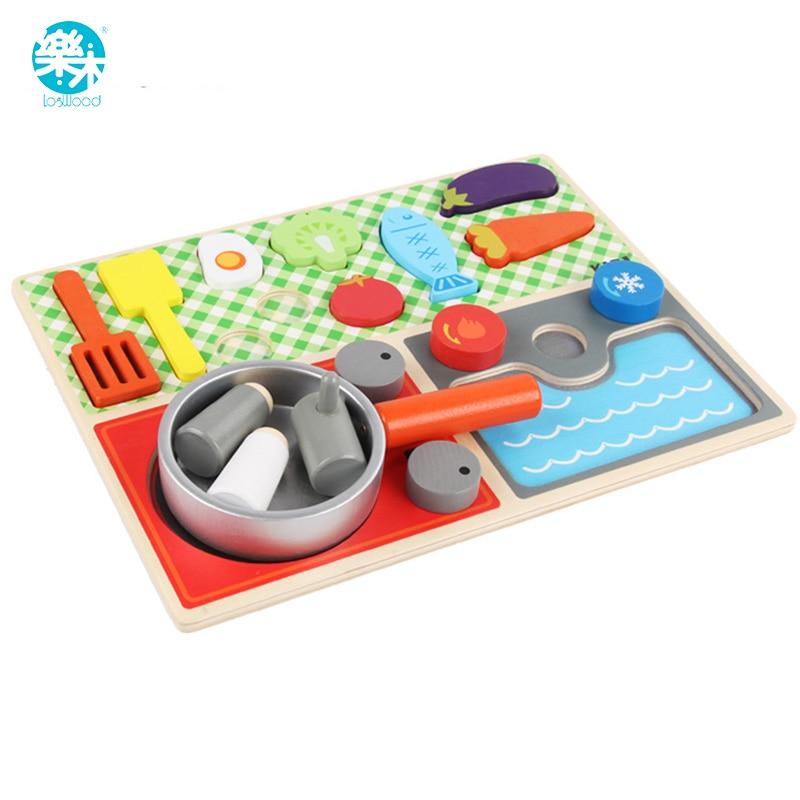 Logwood Dziecko Drewniane Zabawki Udawaj Zagraj Drewniane Prawdziwe życie Kuchnia Dla Dzieci Gry Zabawki Nauka Warzyw Gry Stołowe Edukacyjne