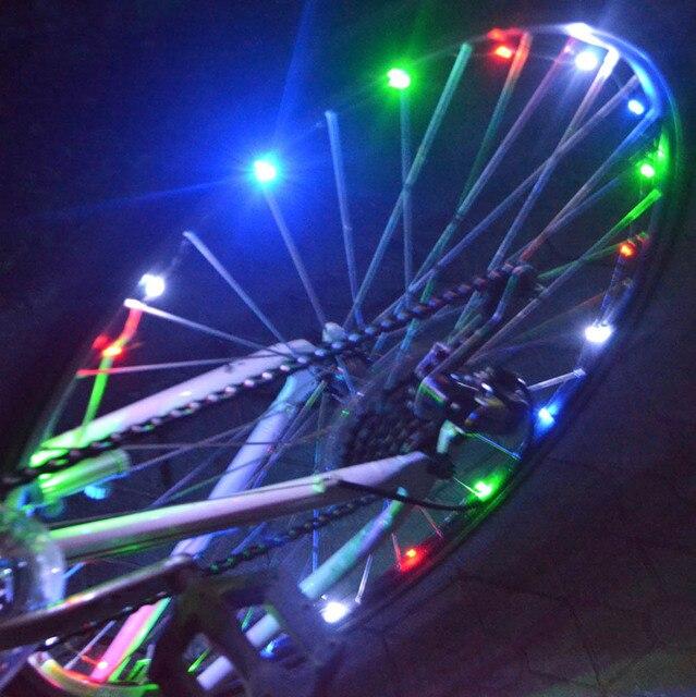 20 led fiets wiel verlichting waterdichte kleurrijke fietsverlichting fiets lamp fietsen wheel spoke led lamp waarschuwingslampje